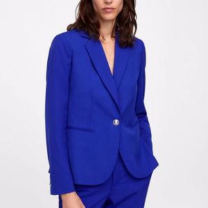 Zara women blue blazer